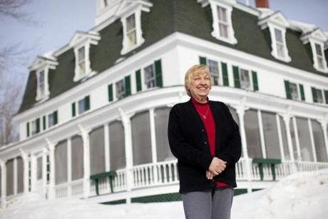 The departing innkeeper, Janice Sage, won the bed and breakfast 22 years ago in much the same way.